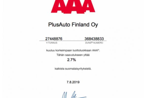AAA sertifikaatti
